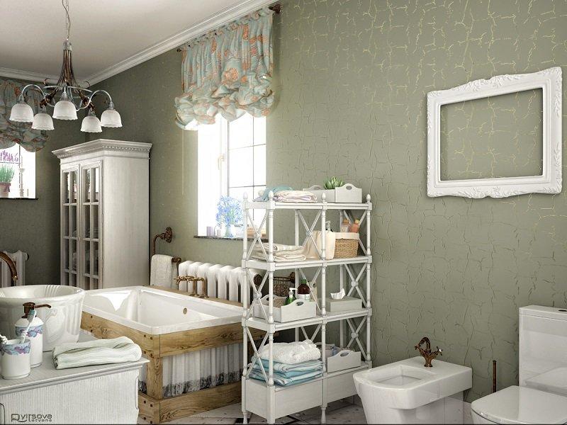 Ванная комната в стиле прованс в светлых тонах