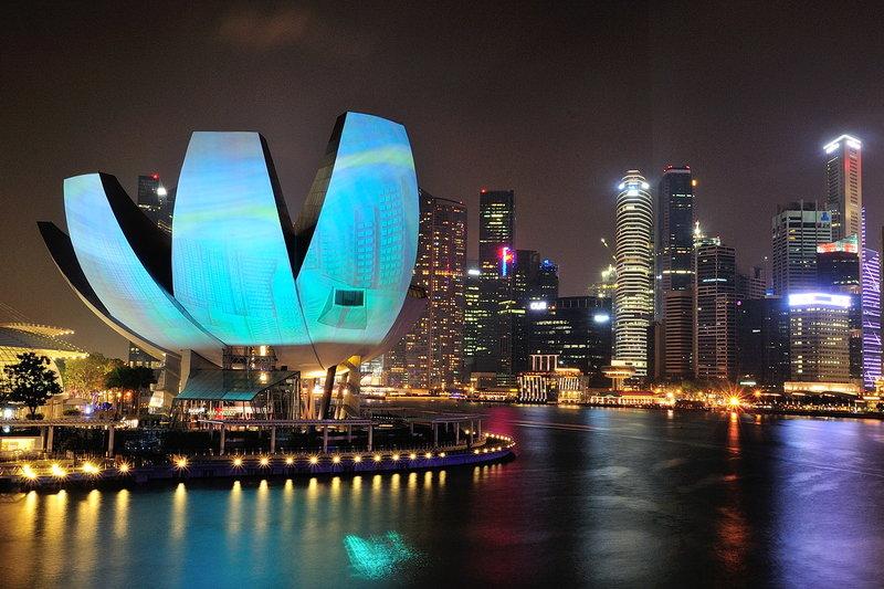 Набережная  Marina Bay в Сингапуре- грандиозное зрелище