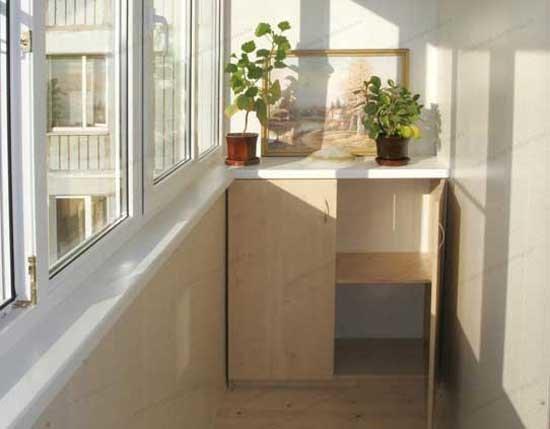 Какую выбрать мебель для лоджии? как компактно разместить шк.