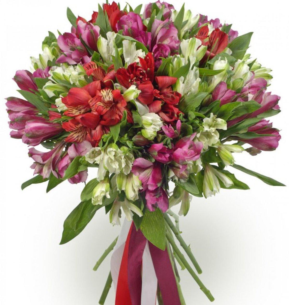 Цветов, букеты из альстромерий