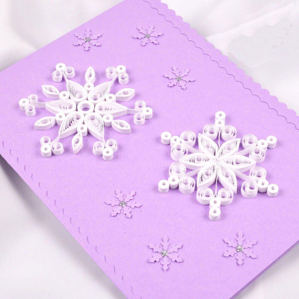 Открытки снежинки своими руками