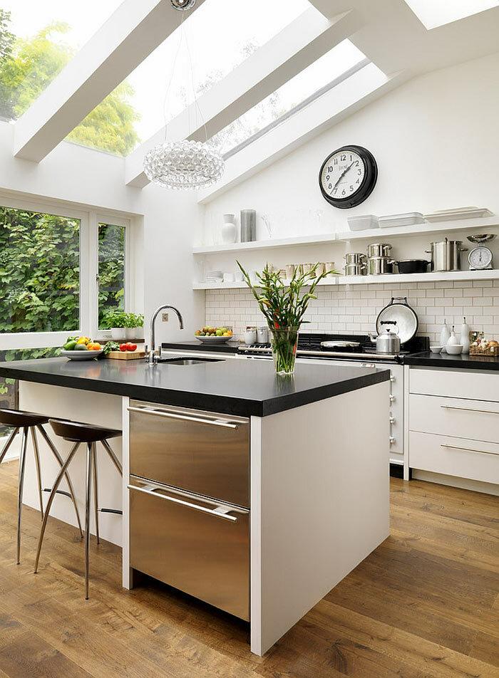 Мансардные окна в интерьере кухни фото 01