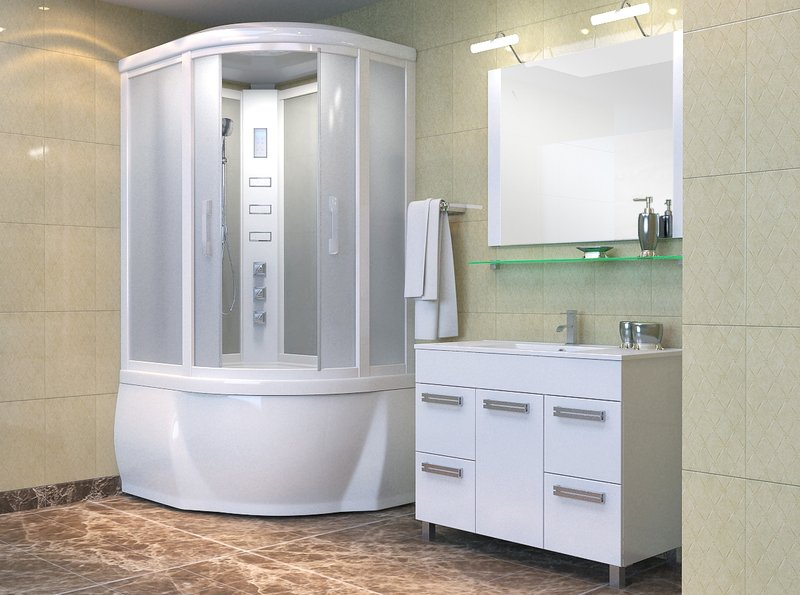 У многих есть ванная комната с душевой кабиной. Дизайн плитки сейчас возможен практически любой. Главное – правильно выбрать цвет.