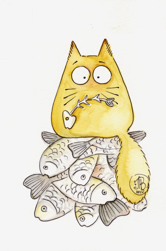 Картинки котики смешные мультяшные