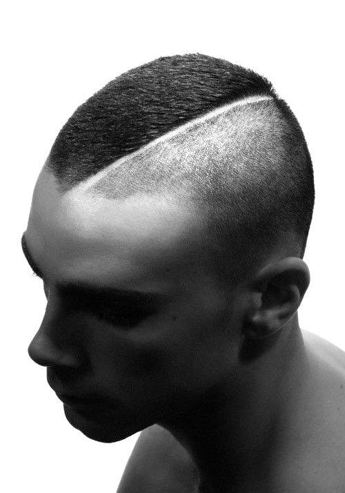Прическа ирокез короткий мужской фото