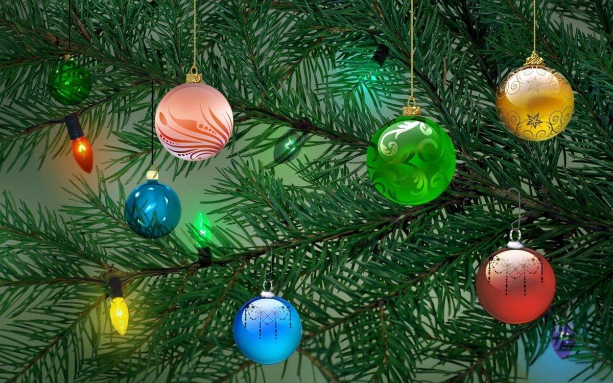 Организации открытки, фотографии открытка шары на елку