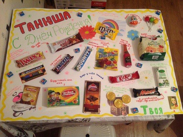 Подарок для подруги своими руками из сладостей фото 93