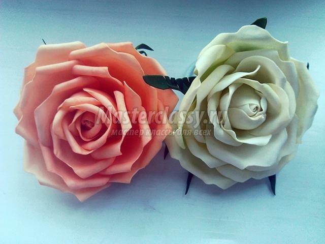 Заколки с розой своими руками