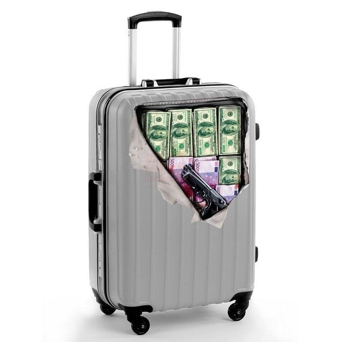 """Наклейка на чемодан """"Деньги"""""""
