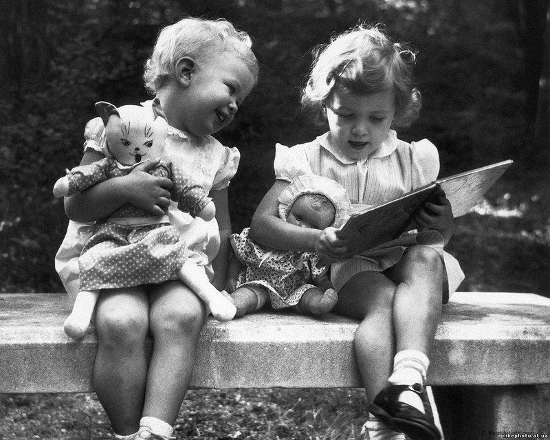 фото детей чёрно-белые