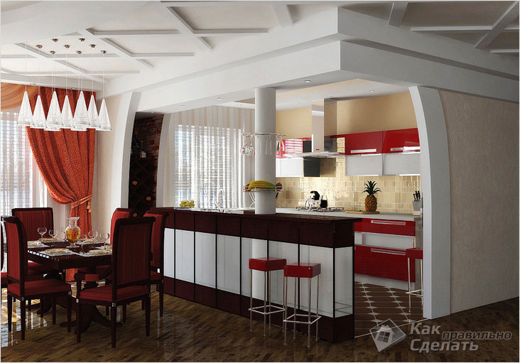 Combining kitchen and dining room