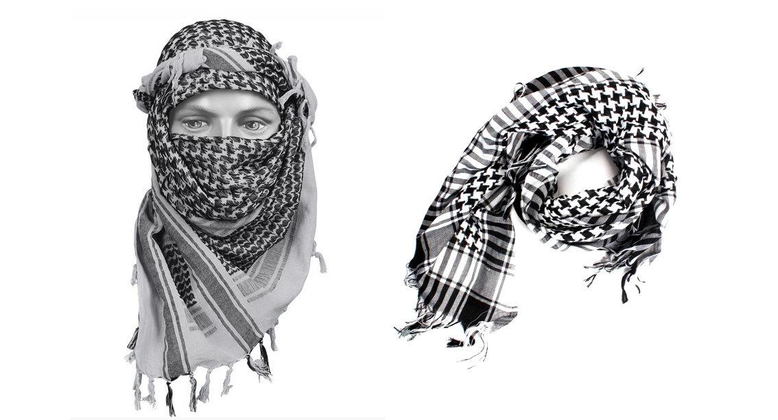 как завязывать арабский шарф как