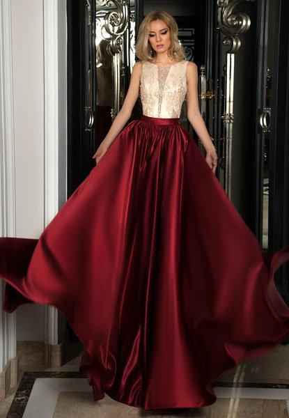 Длинные атласные юбки фото