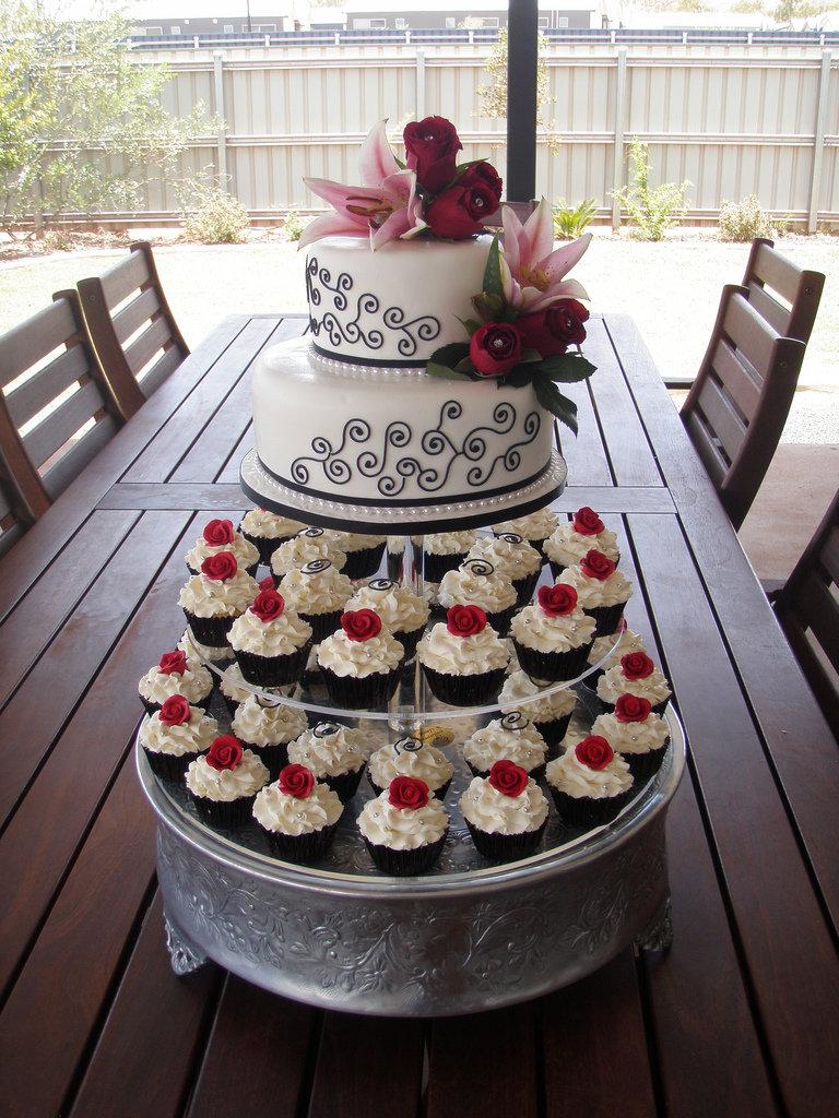 свадебные пирожные и кексы