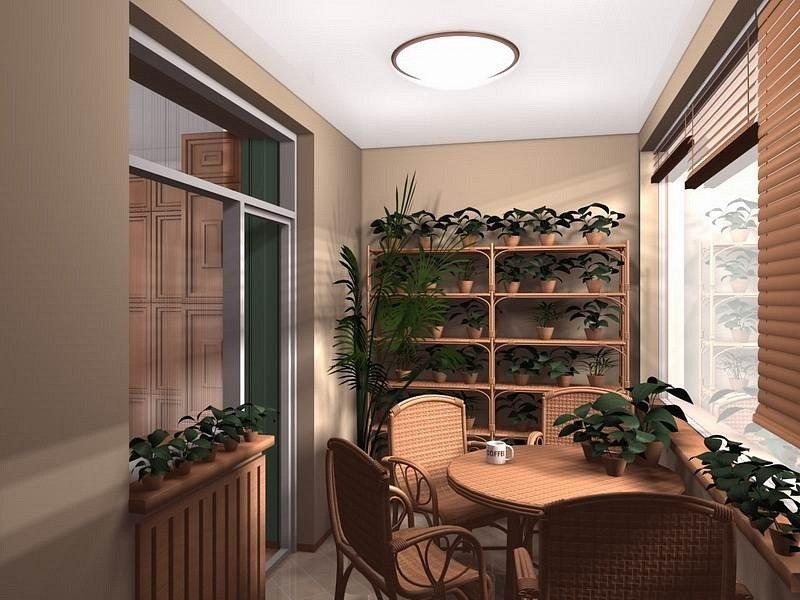 """Цветы на балконе. инетрьер выполнен в классическом стиле"""" - ."""