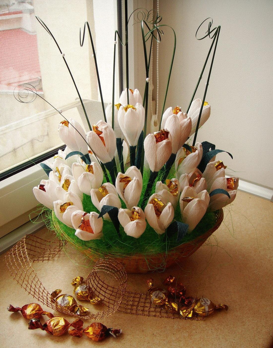 Салон цветов, какие букеты можно сделать из конфет