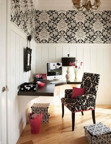 Интерьер домашнего кабинета - Дизайнерское решение в светлых тонах