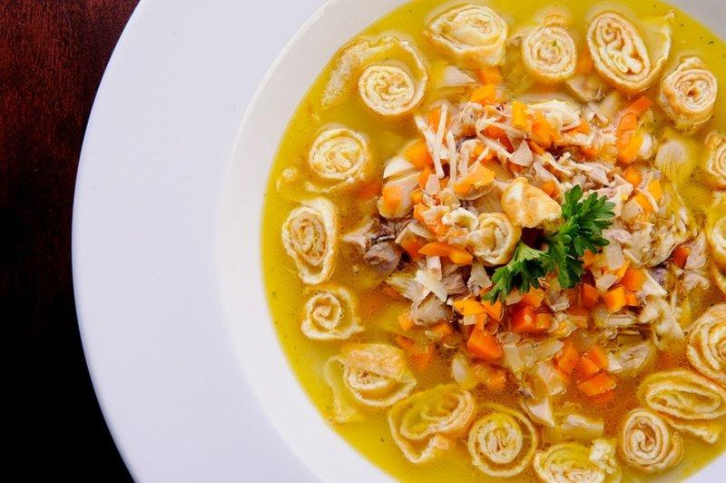 суп с яичными блинчиками рецепты с фото