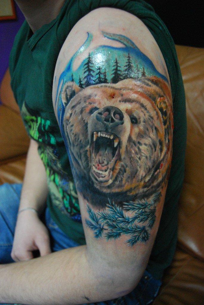 диадема цветные тату медведей фото забивала насмерть