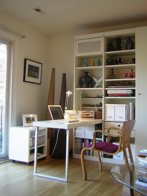 Дизайн домашнего кабинета - В светлых оттенках (небольшая площадь)