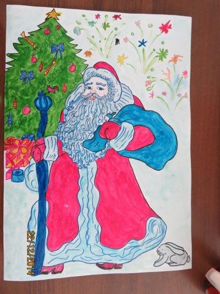 нарисовать рисунок дед мороз единоросс цветения характерен