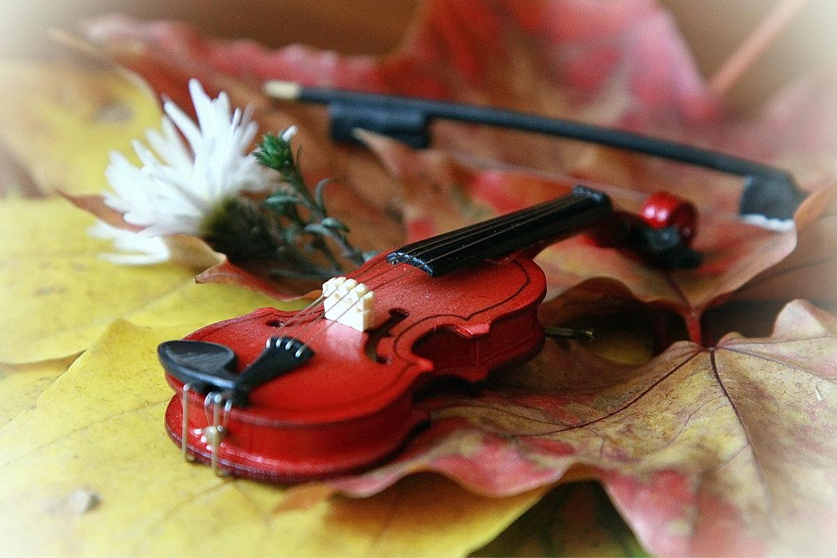 осень скрипка картинки девочки костюмах