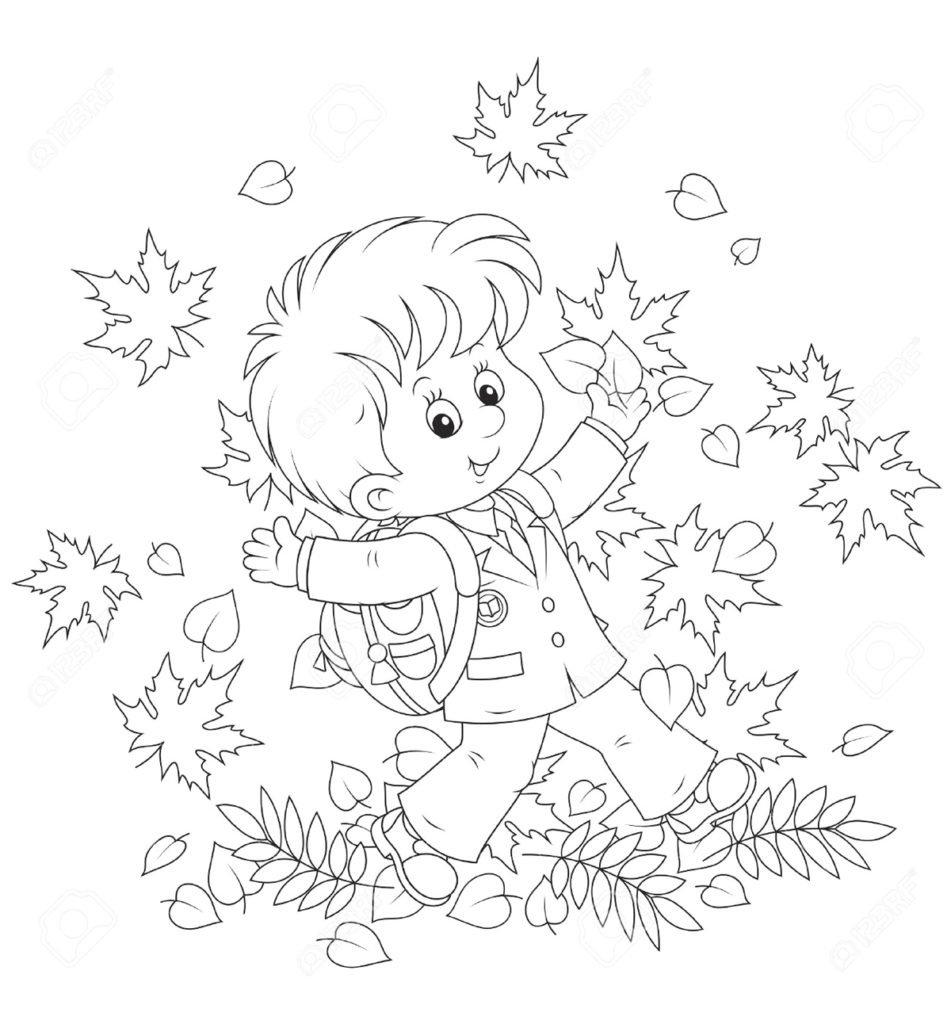 Раскраски к 1 сентября для детского сада, днем рождения мальчика