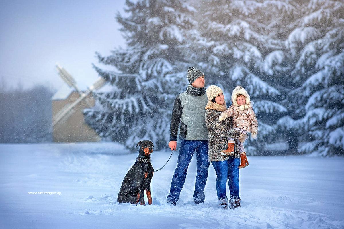 ищете несложный картинка зимняя прогулка с семьей ногтях