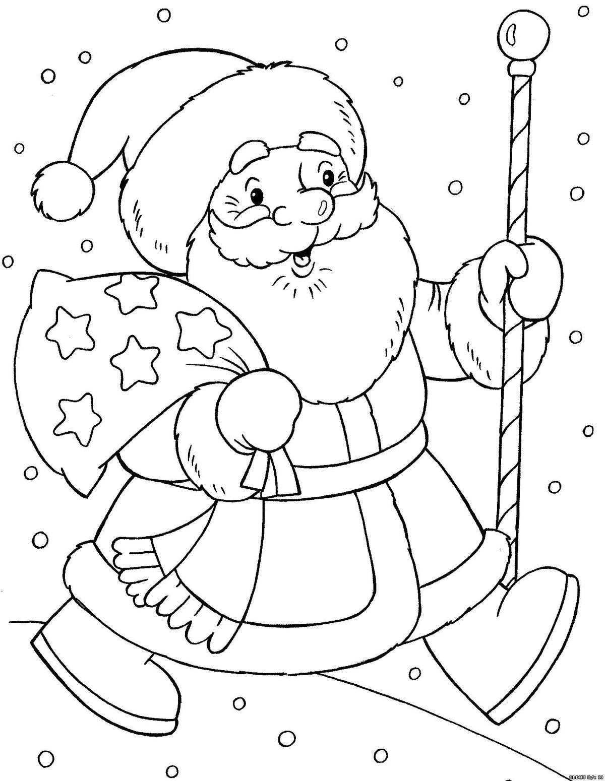 Как нарисовать на открытке на новый год, смешная папа