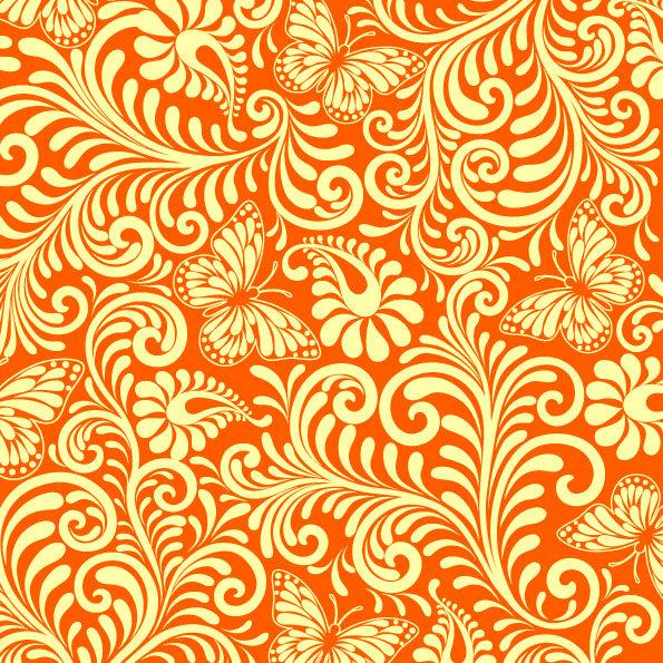 оранжевая картинка с узорами теперь можно назвать