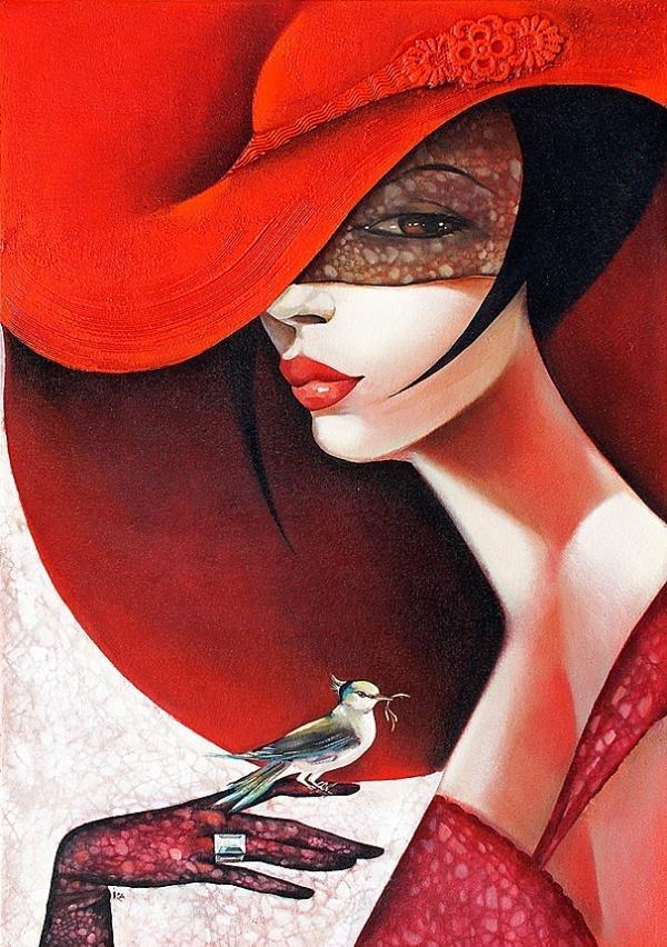 Подарок, прикольные картинки женщина в шляпе