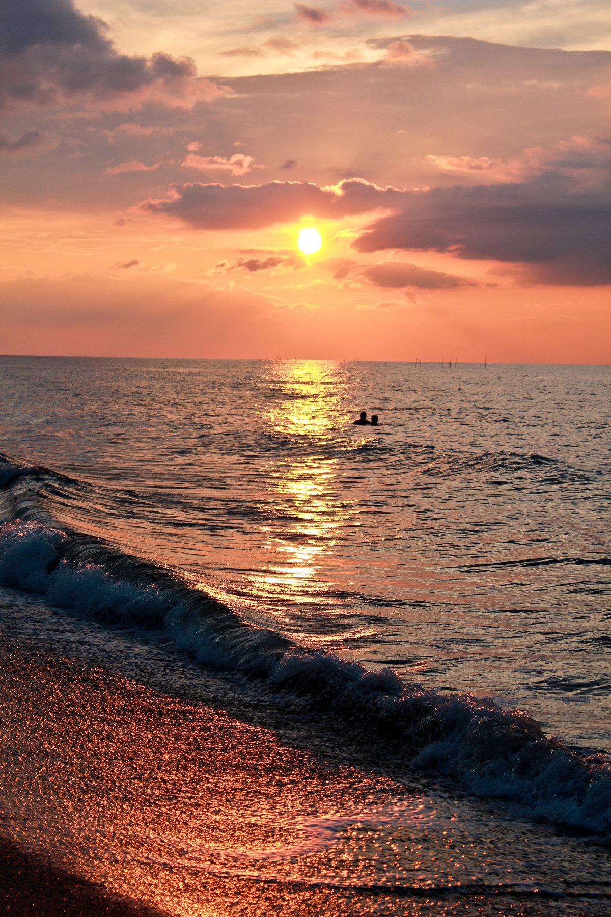 фото с пляжейьанапы вечером