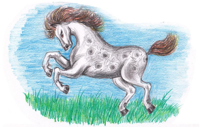 Лошади детские рисунки