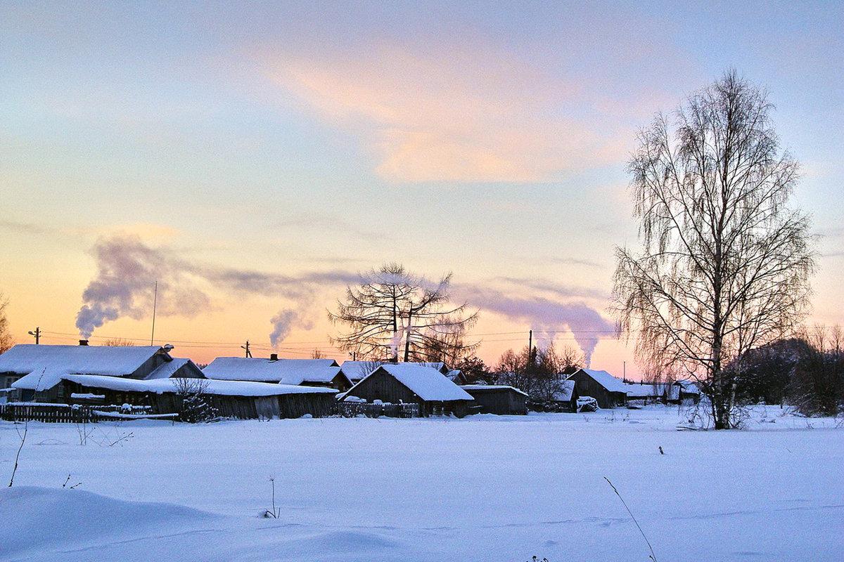 Зимние село картинки