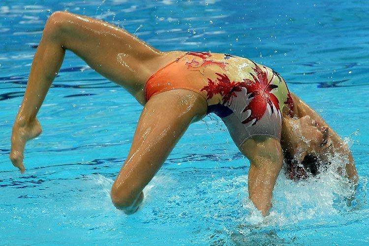 Female synchro swimming nude, alicia machado in the nude
