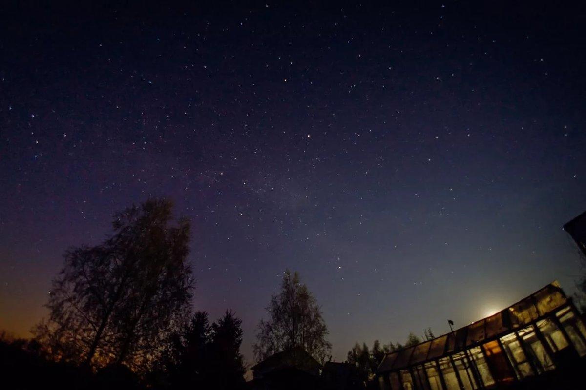 участке четкое фото звездного неба вылизала пилотку своей