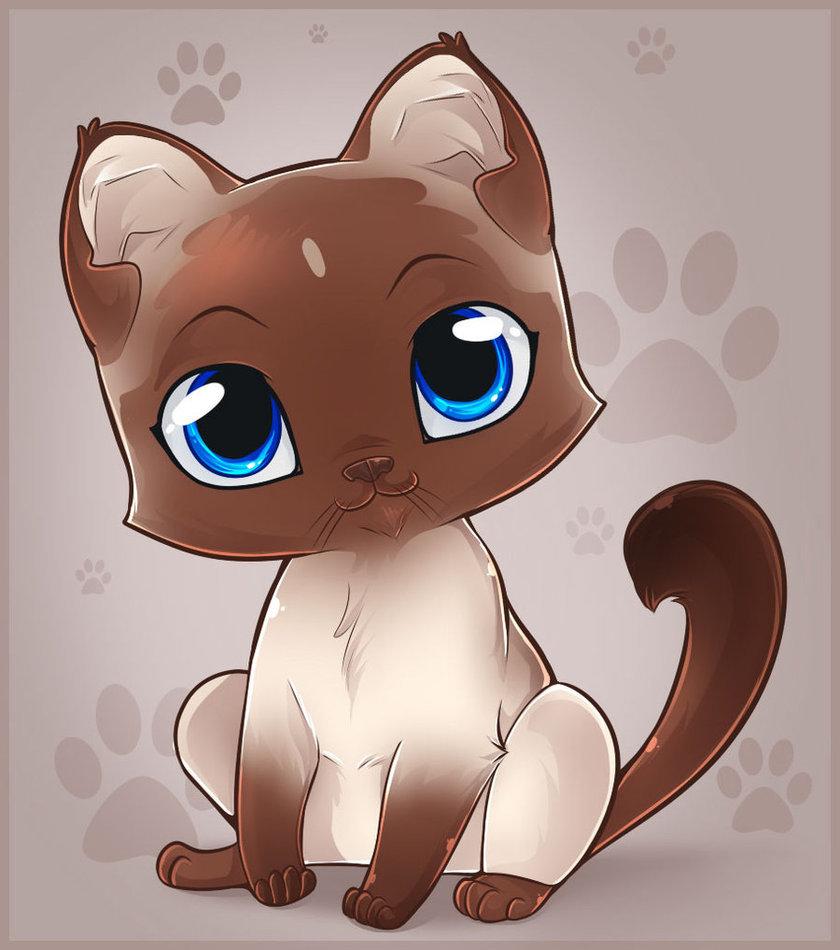 картинки с милыми котятами нарисовать