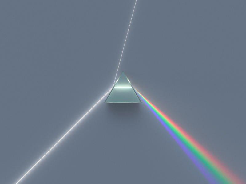 это картинка преломление света в призме почти
