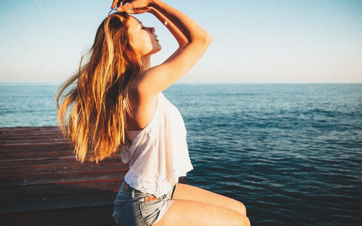 Сделать, картинки девушки на море без лица