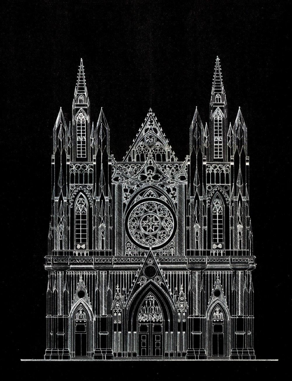 открытка в готическом стиле рисунки отваренным, обжаренным