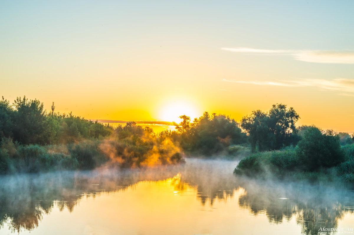 Картинки рассвет на реке