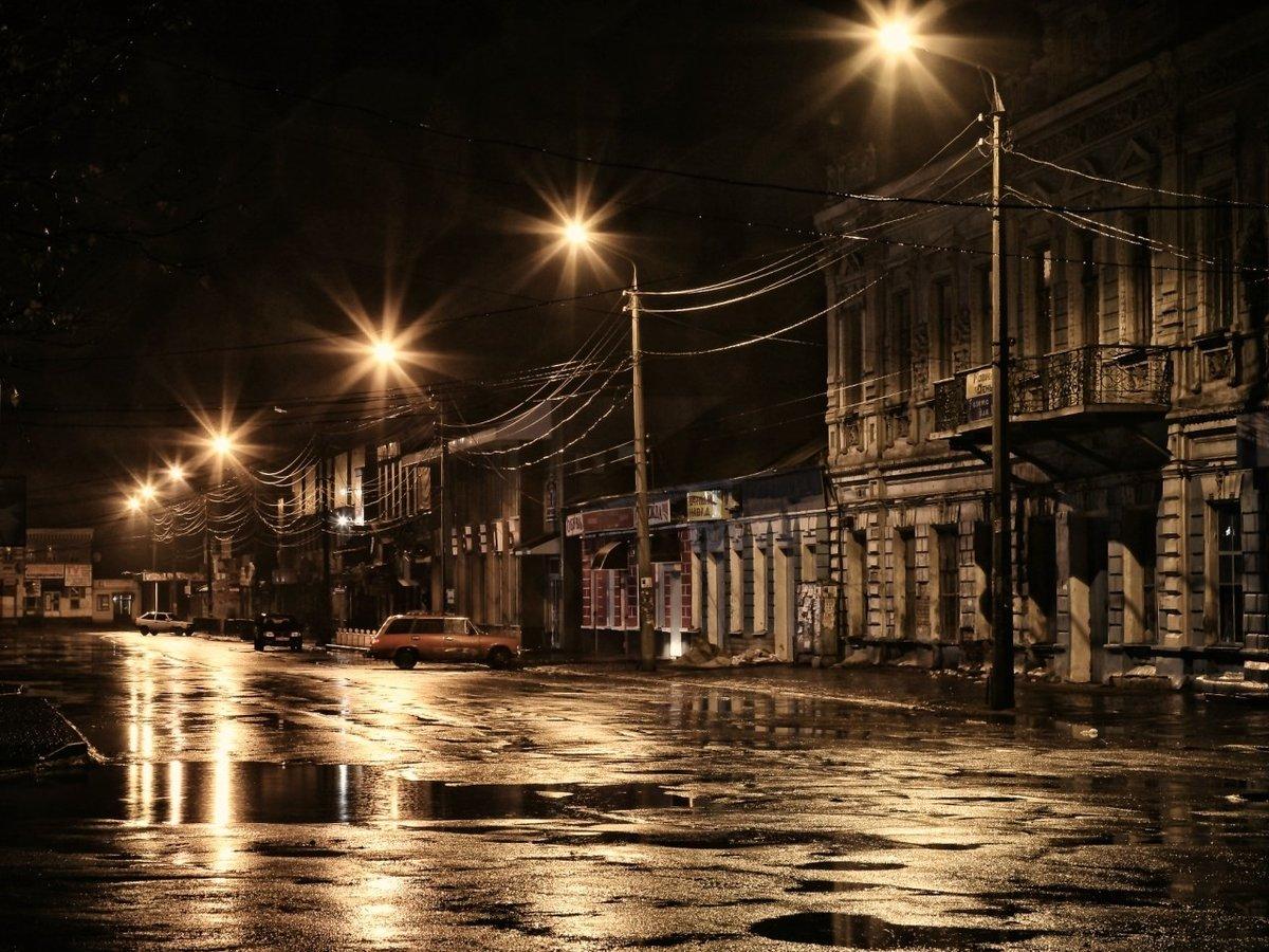 Картинки ночной город под дождем в хорошем качестве