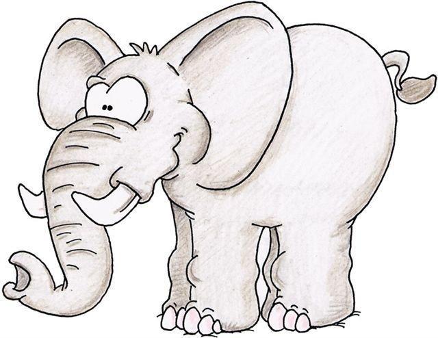 Дяде, слон рисунок смешной