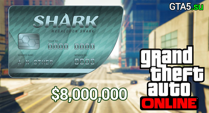 Купить GRAND THEFT AUTO V: PREMIUM ONLINE EDITION & Megalodon Shark Card Bundle