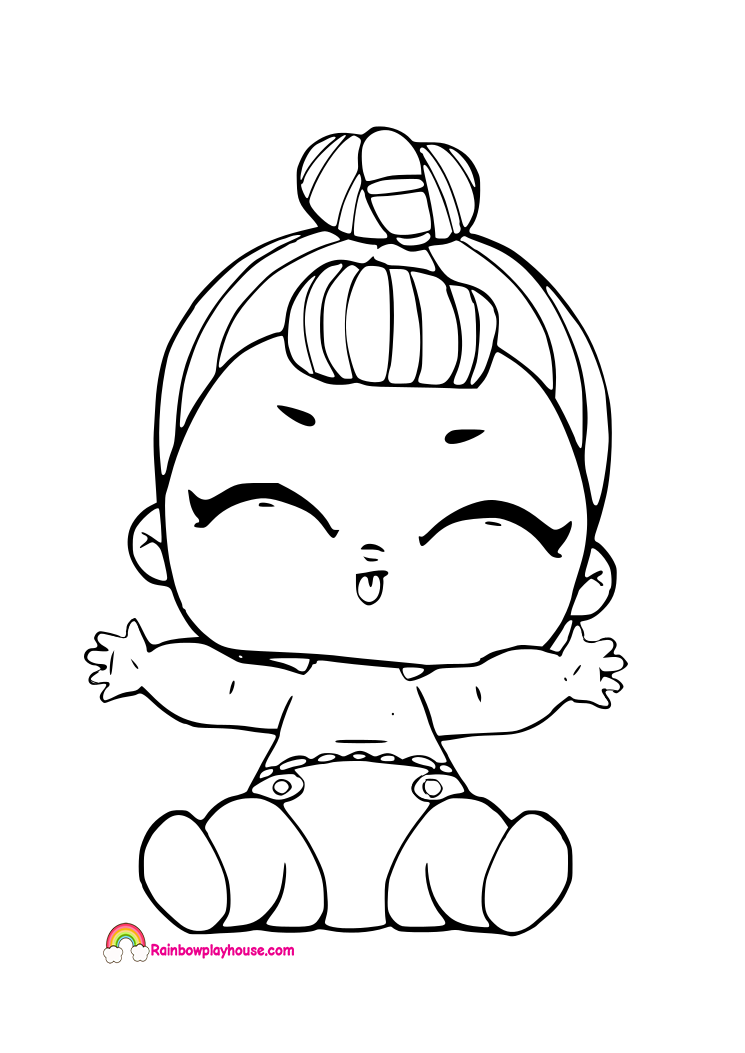 quot Lil IT Baby Coloring Page LOL Surprise Doll Coloring