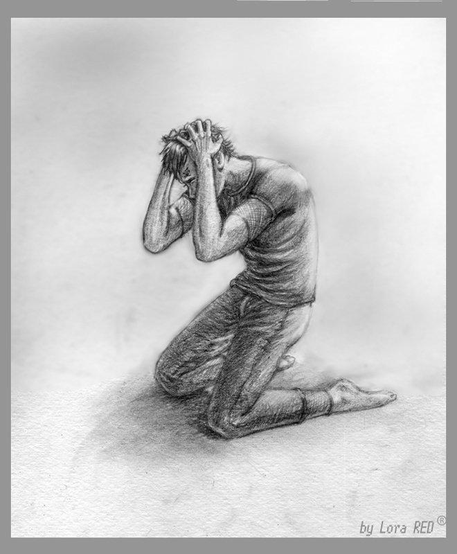 Картинки карандашом боль страдание
