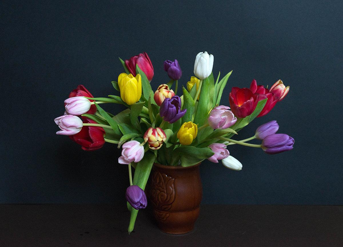 Большой букет тюльпанов фото сколково