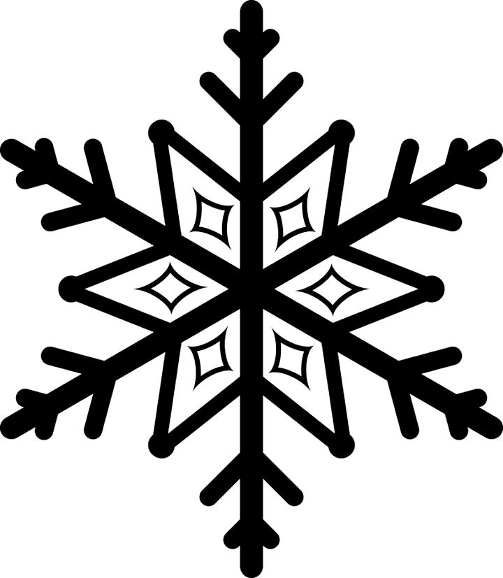 Снежинка графическая картинка