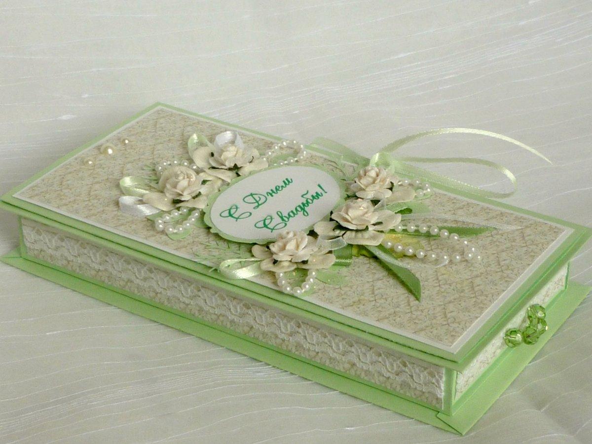 Скрапбукинг коробка с открыткой