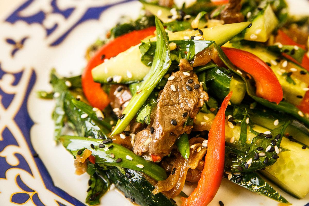 подобной салат из жареной говядины рецепт с фото название